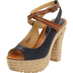 MIA Women`s Tulua Platform Sandal,Navy/Luggage,7 M US $59.99