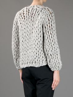 MM6 BY MAISON MARTIN MARGIELA - Heavy Knit Sweater.