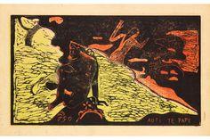 Paul Gauguin, Auti Te Pape (At Play in Fresh Water), 1893–1894. Noa Noa-Suite. Woodcut