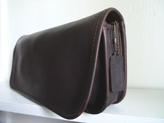SOLD -- Vintage Mahogany Coach Kisslock Clutch NYC by OpenSeasonShop, $95.00