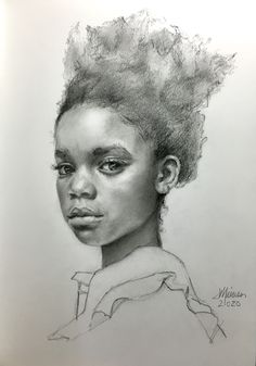 Heirloom quality graphite and charcoal portraits by Shreveport, Louisiana artist, Janet Maines. Portrait Sketches, Drawing Sketches, Art Drawings, Graphite Art, Graphite Drawings, Black Girl Art, Art Girl, Black Art, Types Of Portrait