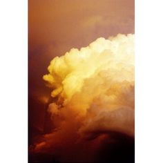 Large Yellow Sunset Storm Cloud Canvas Art - Thomas Fricke Photography Design Pics (12 x 18)