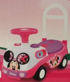 Disney Minnie Mouse Bow-tique My first Activity Ride-on by Kiddieland. $54.56. This Disney Minnie Ride on is and excellent gift for any 12-36months old as they learn to explore and create with Minnie.