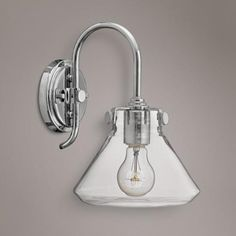 """Hinkley Congress 11 1/4"""" High Clear Glass Chrome Wall Sconce"""
