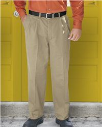 Red Kap - Pleated Front Pant - PC46  View Size Specification  Catalog Page: 531  Designed with mechanical stretch to let the pants move with the wearer for ease of movement and comfort.        7.5 oz., 100% cotton twill      Pleated front styling      Button and zipper closure      Two front slack style pockets      Set-in hip back pockets      Premium softhand    **Hemmed pants are not returnable**