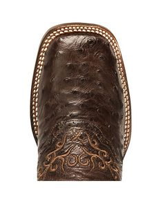 Dan Post Black Junction Ostrich Cowgirl Boot - Wide Square Toe