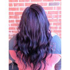Dark brown black purple hair by Jess Wood at Beyond the Fringe in Hillsborough NJ
