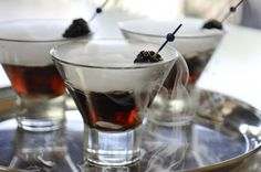 Black Vodka Ghost Martini-perfect for the adult Halloween Party!!!!!!!!