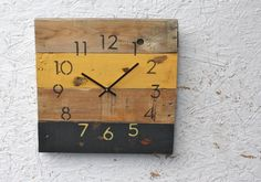 Steelers! http://www.etsy.com/listing/160155664/reclaimed-pallet-wood-wall-clock-modern