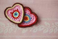 crocheted hearts - Google Search