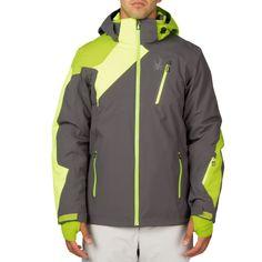 Spyder Vyper Jacket Herren Skijacke grau neon gelb grün – Bild 2 #spyder #skibekleidung #outlet #sporthausmarquardt