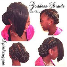 Goddess braids bangs 25 must have goddess braids hairstyles stylesrant goddessbraids 25 must have goddess braids hairstyles stylesrant Ghana Braids Hairstyles, Quick Braided Hairstyles, Black Hair Updo Hairstyles, Goddess Hairstyles, Goddess Braids Updo, Goddess Braid Styles, Pictures Of Goddess Braids, Hair Evolution, About Hair
