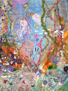 Undersea Fantasy made in Judith Baker Montano's class in 2013