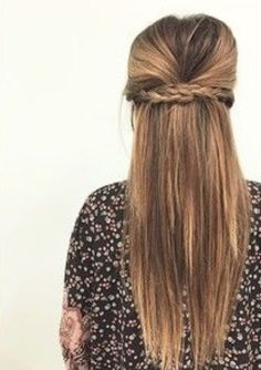 Half up/half down braid