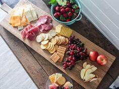 """""""Our Farmhouse serving plank is back in stock! These are the perfect piece for entertaining. Recipes Appetizers And Snacks, Appetizer Dips, Appetizers For Party, Brunch Recipes, Charcuterie Recipes, Charcuterie And Cheese Board, Cheese Boards, Party Food Platters, Cheese Platters"""
