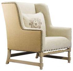 Belgium style hemp and 100% linen chair