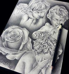 Ghetto Tattoos, Evil Tattoos, Lion Head Tattoos, Baby Tattoos, Sketch Tattoo Design, Tattoo Sketches, Tattoo Drawings, Chicano Drawings, Chicano Tattoos