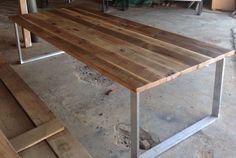 Antique Reclaimed Oak Table #reclaimedwoodtables