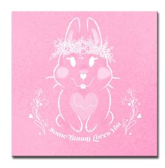 Valentine's Day 'Some Bunny Loves You' Graphic Art on Wrapped Canvas