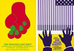 left: european jazz unity, 1972 & right: don pullen, 1978 - niklaus troxler