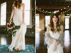 Industrail Indoor Wedding Inspiration