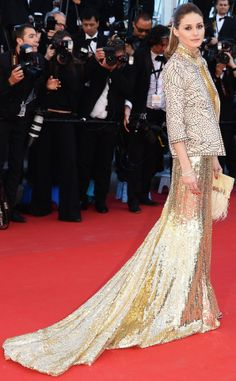 Loved Olivia Palermo in glamorous gold
