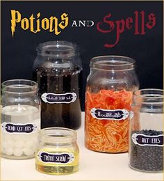 LOTS of cute ideas!  Harry Potter party - haunted house style