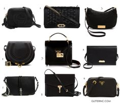 fashion classic: black crossbody bags (in every style and price)