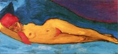 Emil Nolde, Nudo disteso, 1901