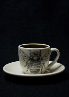 Laura Zindel Bumble Bee Espresso Cup & Saucer