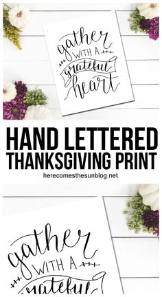 Hand Lettered Thanksgiving Print
