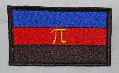Embroidered Polyamory Pride flag patch- measures 8.5x5cm (3.5x2).  Sew or pin onto clothes or a badge to make a statement. This listing is