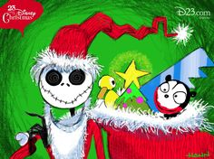 """May your Christmas be a nightmare!""     Art by Don Hahn, Executive Producer at The Walt Disney Studios."