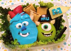 Summer Fun Bento: Mike and Sulley, Monsters University freshmen and best friends!