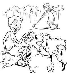 Cain and Abel Bible Coloring Page Free Download | For The kids ...