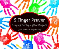 Have trouble keeping up with your prayer list? Use this 5 Finger Prayer to visually recall key groups of people to include in your prayers. Great for kids! Simple Prayers, Prayers For Healing, Prayer List, Prayer Box, Printable Prayers, Free Printable, Five Finger Prayer, Prayer Crafts, Sunday School Projects