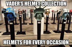 Vader helmet collection