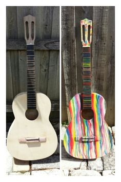 #upcycle #guitar #watercolor #renewremake