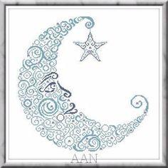 Sweet Moon - Cross Stitch Pattern  Alessandra Adelaide - AAN