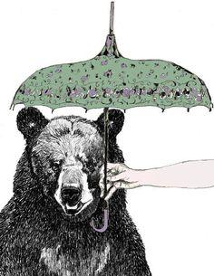 Bear & umbrella