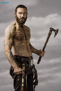 "blackirishlover: ""Clive Standen as Rollo LothbrokThe History Channel show Vikings has some really hot guys. Rollo, played by British stud Clive Standen is one of my favorites. Vikings Tv Show, Vikings Tv Series, Rollo Vikings, Lagertha Vikings, Rollo Lothbrok, Viking Tattoo Meaning, Viking Tattoos, Art Viking, Viking Life"
