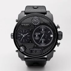 DIESEL Style #: DZ7193    When one watch just won't do, wear four. With two parts analog, one part digital, and one part chronograph, this mega-oversized watch may be easy to read, but it's not easy to take your eyes off of it.