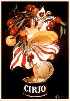 Cirio Vintage French Poster by Leonetto Cappiello (black)