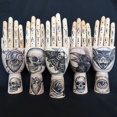 Tattooed Wooden hand