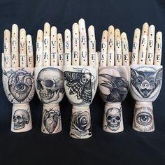 Tattooed Wooden hand