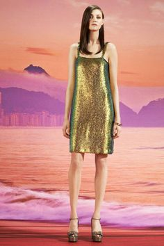 Gucci Resort 2014 - metallic holographic classic cut and decent lenght - all around fabulous.