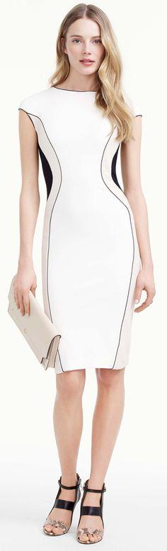 Ponte Seamed Sheath Dress
