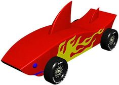 Shark - INSTANT DOWNLOAD - pinewood derby car design