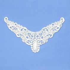 Ivory guipure lace neckliner motif, $1.50 each. http://www.alacraft.com.au/ivory-guipure-lace-neckliner-motif-162    Stitch or sew on. Ideal for decorating clothing especially for tops when the neckline is too low. Can also be used as a base embellishment for wedding dresses, costumes and dance wear.