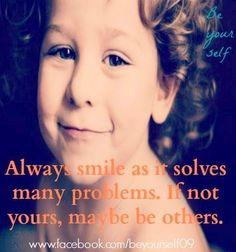 Smile quote via www.Facebook.com/BeYourself09
